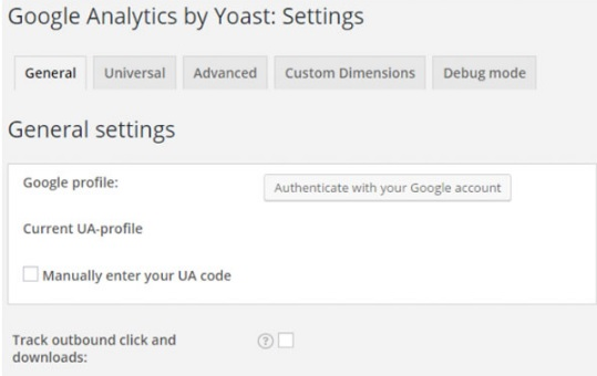 how to make yoast google analytics appear on dashboard